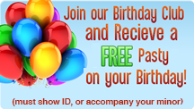 Free Pasty  on your Birthday